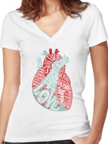 Letters of Love Women's Fitted V-Neck T-Shirt