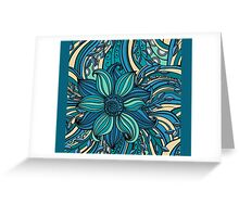 Blue Hue Floral  Greeting Card