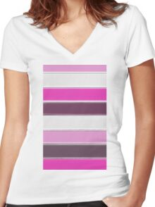 Pinky Women's Fitted V-Neck T-Shirt