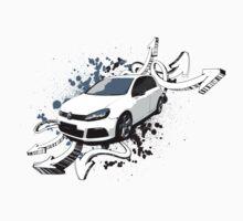 VW Golf R - Arrows paint splatter One Piece - Short Sleeve