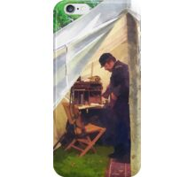 Civil War Officer's Tent iPhone Case/Skin