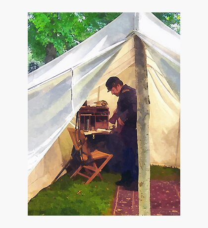 Civil War Officer's Tent Photographic Print