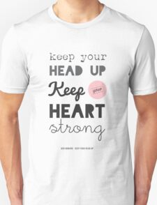 Song Lyrics Print, Ben Howard, Keep your Head up T-Shirt T-Shirt