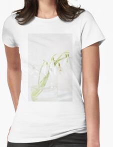The stillness of snowdrops Womens Fitted T-Shirt