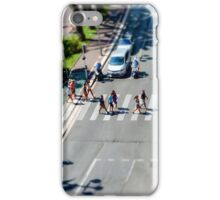 Pedestrian zebra across the street. Tilt shift view. Nice, France iPhone Case/Skin
