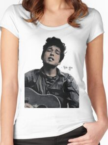 Bob Dylan Women's Fitted Scoop T-Shirt