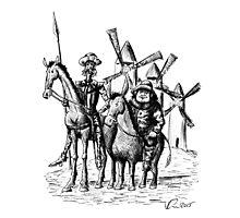 Don Quixote and Sancho Panza ink drawing Photographic Print