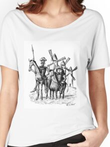 Don Quixote and Sancho Panza ink drawing Women's Relaxed Fit T-Shirt