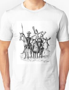 Don Quixote and Sancho Panza ink drawing Unisex T-Shirt