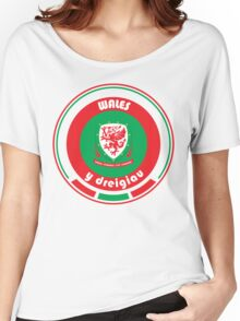 Euro 2016 Football - Team Wales Women's Relaxed Fit T-Shirt