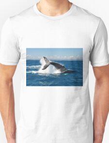 Humpback tail slap Unisex T-Shirt