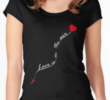 Love is in the air V.1.1 Women's Fitted Scoop T-Shirt