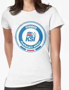 Euro 2016 Football - Team Iceland Womens Fitted T-Shirt