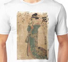Flower - Toyokuni Utagawa - c1805 - woodcut Unisex T-Shirt