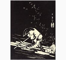 Flower Petals Sprinkling A Raft - Hiroshige Ando - 1848 - woodcut Unisex T-Shirt