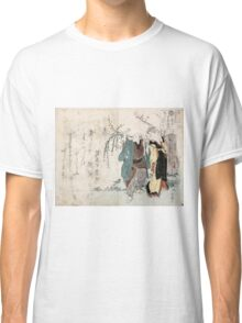 Four Cottonballs Blooming On A Willow - anon - 1814 - woodcut Classic T-Shirt