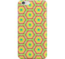 Pattern 8: Green with yellow and pink hexagons iPhone Case/Skin