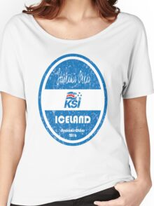 Euro 2016 Football - Iceland Women's Relaxed Fit T-Shirt
