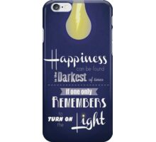 Harry Potter Quote Happiness iPhone Case/Skin