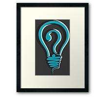 questioning design concept Framed Print