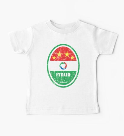 World Cup Football 2/8 - Italia (Distressed) Baby Tee