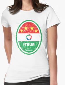 World Cup Football 2/8 - Italia (Distressed) Womens Fitted T-Shirt
