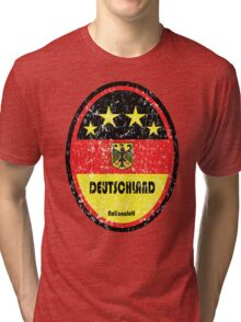 World Cup Football 3/8 - Deutschland (Distressed) Tri-blend T-Shirt