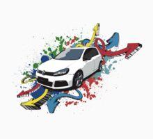 VW Golf R - Arrows paint splatter color Baby Tee