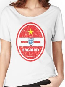 World Cup Football 6/8 - England (Distressed) Women's Relaxed Fit T-Shirt