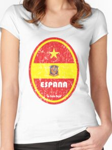 World Cup Football 8/8 - Espana (Distressed) Women's Fitted Scoop T-Shirt