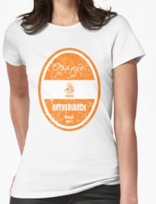 World Cup Football - Netherlands (Distressed) Womens Fitted T-Shirt