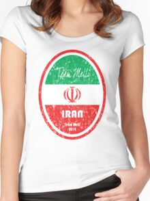 World Cup Football - Iran Women's Fitted Scoop T-Shirt