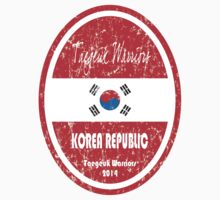 World Cup Football - Korea Republic (distressed) Baby Tee