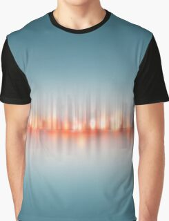 abstract cityscape illustration - city skyline  Greencity. Graphic T-Shirt