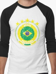 World Cup Football 1/8 - Team Brasil (distressed) Men's Baseball ¾ T-Shirt