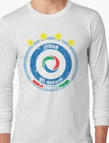 World Cup Football 2/8 - Team Italia (distressed) Long Sleeve T-Shirt