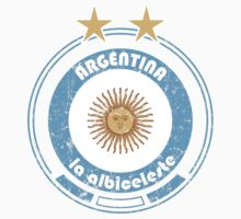 World Cup Football 5/8 - Team Argentina (distressed) by madeofthoughts