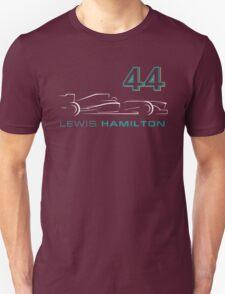 F1 Lewis Hamilton 44 Unisex T-Shirt