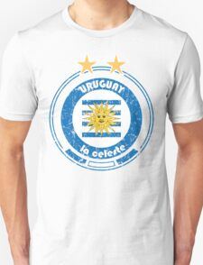 World Cup Football 4/8 - Team Uruguay (distressed) Unisex T-Shirt