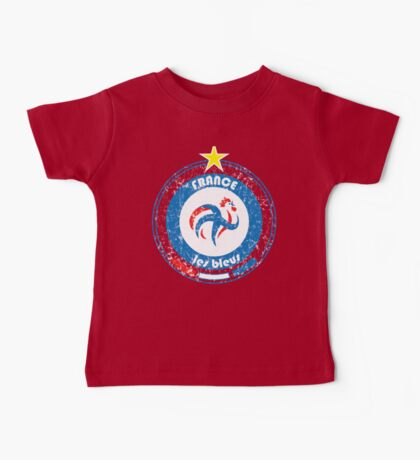 World Cup Football 7/8 - Team France (distressed) Baby Tee