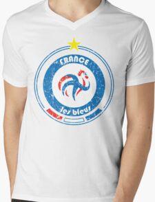 World Cup Football 7/8 - Team France (distressed) Mens V-Neck T-Shirt