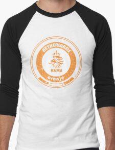 World Cup Football - Team Netherlands (distressed) Men's Baseball ¾ T-Shirt
