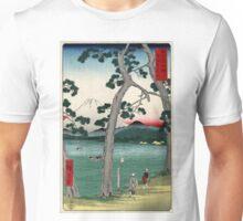 Fuji On The Left Side Of The Tokaido - Hiroshige Ando - 1858 - woodcut Unisex T-Shirt