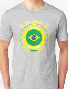 World Cup Football 1/8 - Team Brasil Unisex T-Shirt
