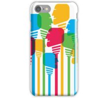 abstract people crowd iPhone Case/Skin