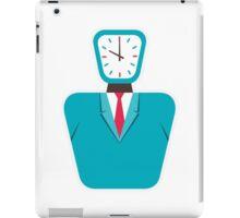 creative clock face men iPad Case/Skin