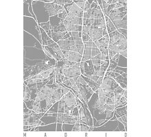 Madrid map grey Photographic Print