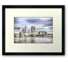 City of London and River Thames Snow Art Framed Print