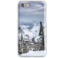 Snow covered Winnats Pass, Peak District, UK iPhone Case/Skin