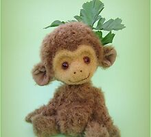 Handmade bears from Teddy Bear Orphans - Charlie Chimp by Penny Bonser